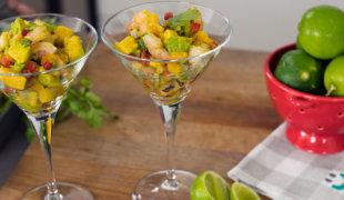 Receta: Ceviche de camarones y mangos   Doncella Blog